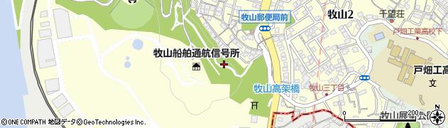 福岡県北九州市戸畑区牧山周辺の地図