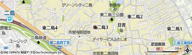 福岡県北九州市若松区東二島周辺の地図