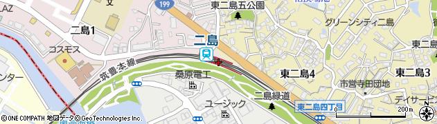 福岡県北九州市若松区周辺の地図