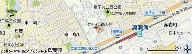 福岡県北九州市若松区西天神町周辺の地図