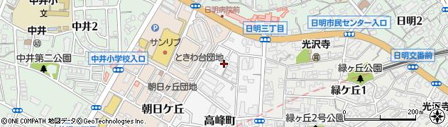 福岡県北九州市小倉北区高峰町3周辺の地図