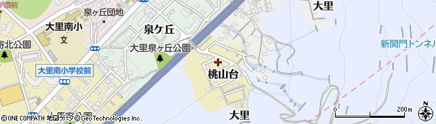福岡県北九州市門司区桃山台周辺の地図