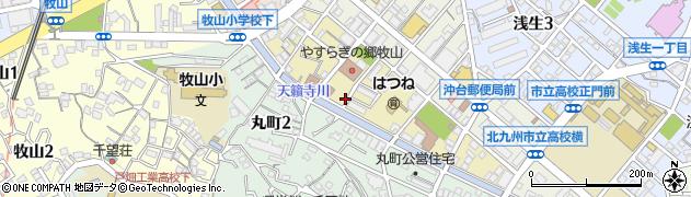 福岡県北九州市戸畑区新川町周辺の地図