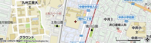 福岡県北九州市戸畑区境川周辺の地図