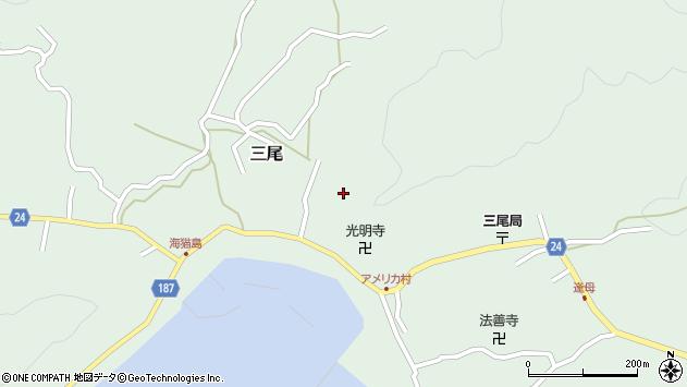 〒644-0045 和歌山県日高郡美浜町三尾の地図