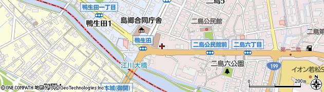 第一交通産業グループ 若松地区事務所二島営業所周辺の地図