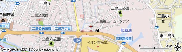 福岡県北九州市若松区二島周辺の地図