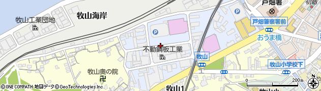 福岡県北九州市戸畑区牧山新町周辺の地図
