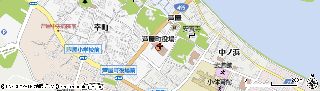 福岡県遠賀郡芦屋町周辺の地図