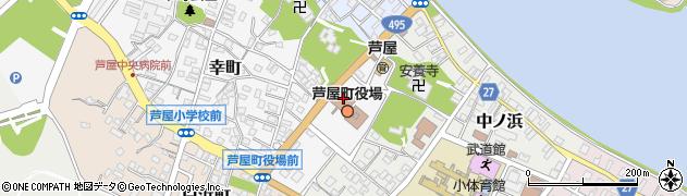 福岡県芦屋町(遠賀郡)周辺の地図