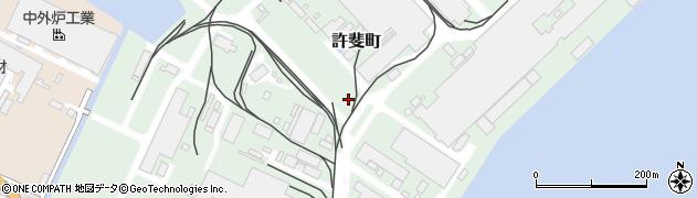 福岡県北九州市小倉北区許斐町周辺の地図