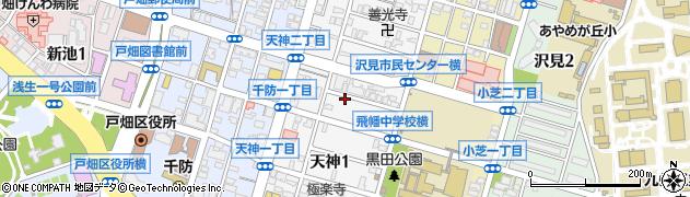 福岡県北九州市戸畑区天神周辺の地図
