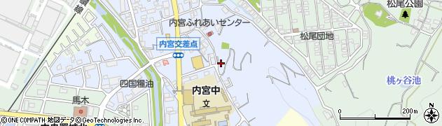 愛媛県松山市内宮町周辺の地図