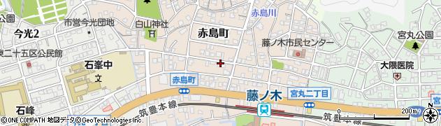 福岡県北九州市若松区赤島町周辺の地図