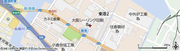 福岡県北九州市小倉北区東港周辺の地図
