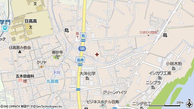 〒644-0003 和歌山県御坊市島の地図