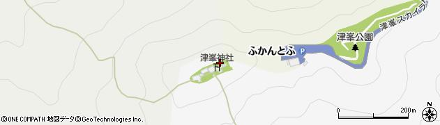 津峯神社周辺の地図