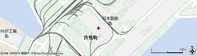 福岡県北九州市小倉北区許斐町18周辺の地図