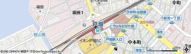 福岡県北九州市戸畑区周辺の地図
