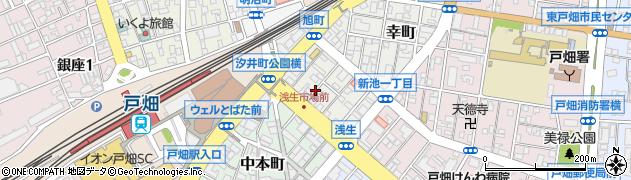福岡県北九州市戸畑区旭町周辺の地図
