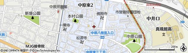 福岡県北九州市戸畑区中原東周辺の地図