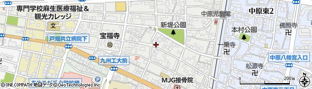 福岡県北九州市戸畑区中原西周辺の地図