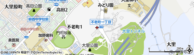 福岡県北九州市門司区不老町周辺の地図