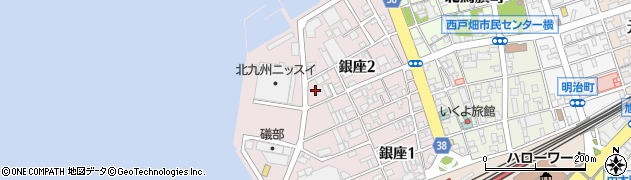 福岡県北九州市戸畑区銀座周辺の地図