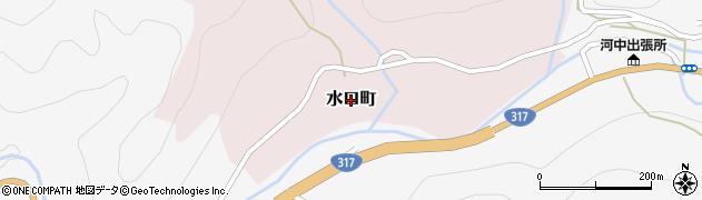 愛媛県松山市水口町周辺の地図