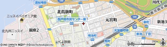 福岡県北九州市戸畑区明治町周辺の地図