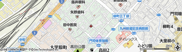 福岡県北九州市門司区高田周辺の地図