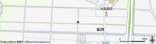 福岡県北九州市若松区払川周辺の地図