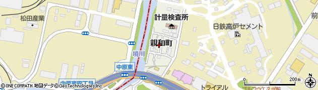 福岡県北九州市小倉北区親和町周辺の地図