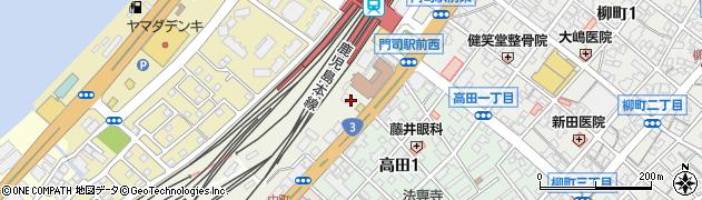 福岡県北九州市門司区中町周辺の地図