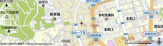 福岡県北九州市若松区白山周辺の地図