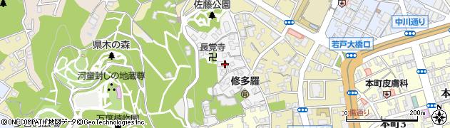 福岡県北九州市若松区山手町周辺の地図