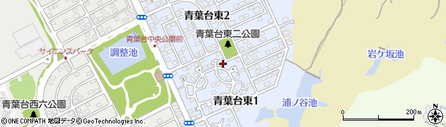 福岡県北九州市若松区青葉台東周辺の地図
