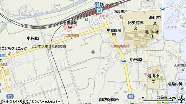 〒644-0012 和歌山県御坊市湯川町小松原の地図