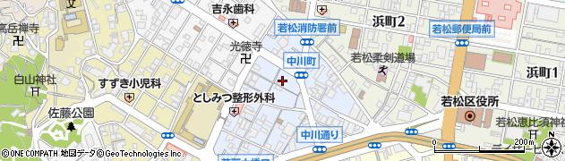 福岡県北九州市若松区中川町周辺の地図