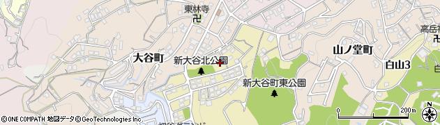 福岡県北九州市若松区新大谷町周辺の地図