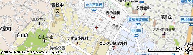 福岡県北九州市若松区大井戸町周辺の地図