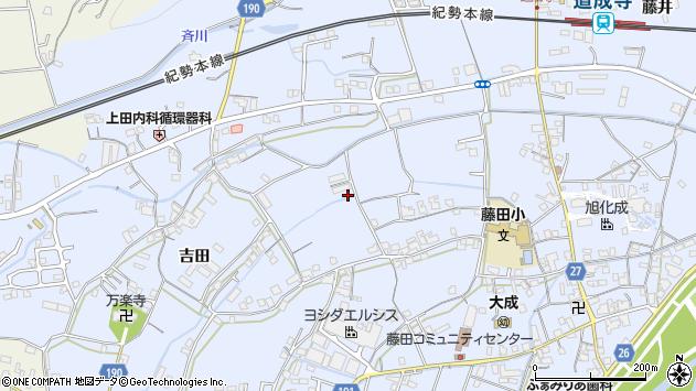 〒649-1342 和歌山県御坊市藤田町吉田の地図