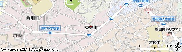 福岡県北九州市若松区東畑町周辺の地図