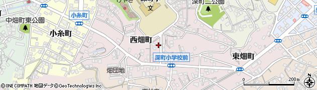 福岡県北九州市若松区西畑町周辺の地図