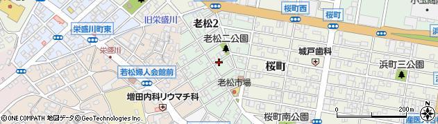 福岡県北九州市若松区老松周辺の地図