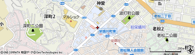 福岡県北九州市若松区栄盛川町周辺の地図