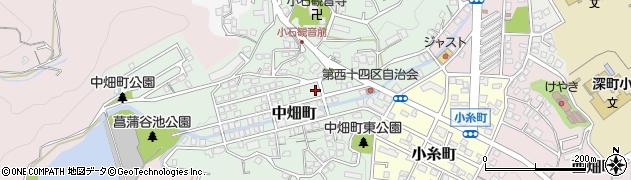 福岡県北九州市若松区中畑町周辺の地図