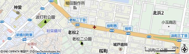 老松2東周辺の地図