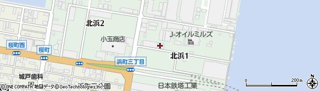 株式会社J−オイルミルズ 若松工場物流業務室周辺の地図