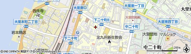 福岡県北九州市門司区下二十町周辺の地図